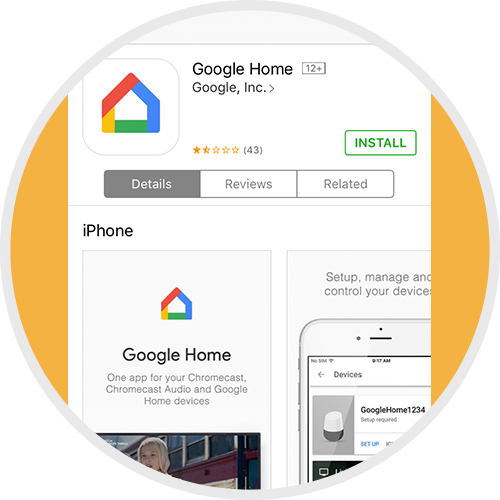 Download the Google Home app on your device