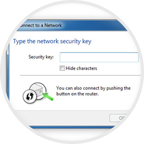 Enter your Network Security Key
