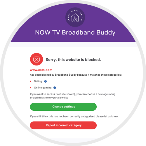 Website blocked by NOW TV Broadband Buddy
